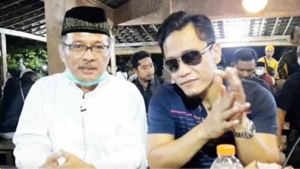 Gus Miftah (kanan) dan Prof Abdul Haris