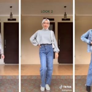 Stripes Outfit Ideas Buat Yang Berhijab, Cocok untuk Acara Reunian Bukber