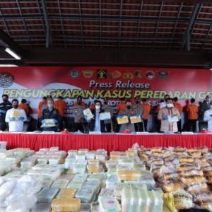 Polri Panen, Ungkap Peredaran 2,5 Ton Sabu