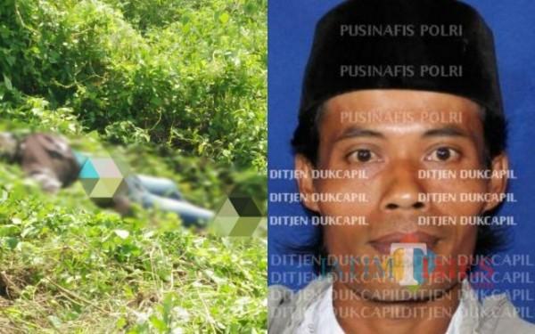 Jasad yang ditemukan pada Selasa ( 27/04/2021) lalu / Foto : Istimewa / Tulungagung TIMES
