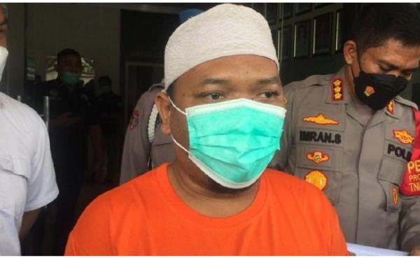 Ustaz Adam Ibrahim penyebar hoax babi ngepet (Foto: detikNews)