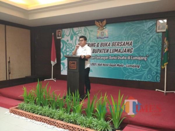 Agus Setiawan, SE.  Ketua Kadin Lumajang (Foto : Moch. R. Abdul Fatah / Jatim TIMES)