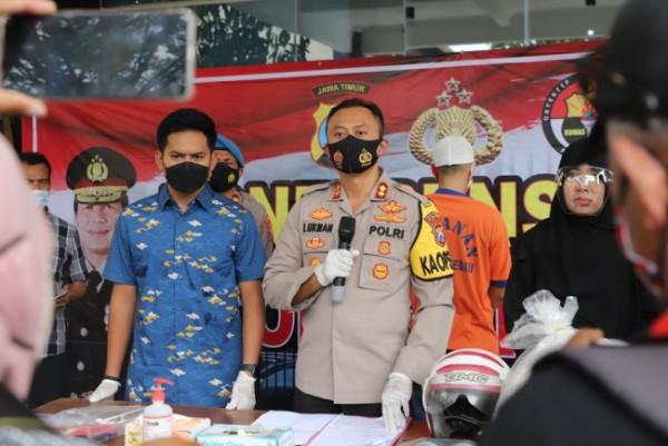 Press release Polres Kediri soal pembunuhan terhadap seorang nenek. (Foto: Ist)