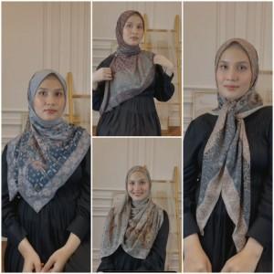 Praktis dan Stylish, Cara Beda Pakai Hijab Segi Empat ala Hijabers Dwi Handayani