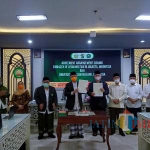 Tingkatan Kualitas Pendidikan, Unisma Jalin Kerja Sama dengan Kedutaan Besar Afghanistan