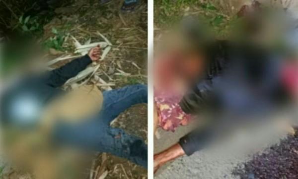Kedua korban sama sama tewas di dusun Lumpang desa Jenggrong (Foto : Netizen / JatimTIMES)
