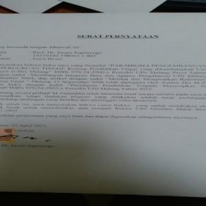 Beredar Surat Pernyataan Mantan Rektor UIN Malang di WhatsApp, Begini Isinya!