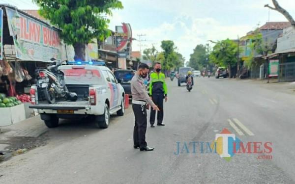 Lokasi terjadinya kecelakaan di Plosokandang (Foto: Dokpol / TulungagungTIMES)