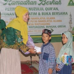Tebar Kebaikan, IPNU-IPPNU Watuagung Gelar Santunan Anak Yatim