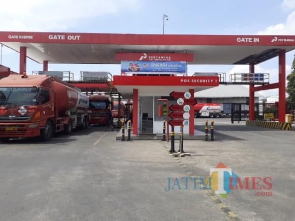 Tangki BBM di Fuel Terminal Malang. (Arifina Cahyanti Firdausi/MalangTIMES).