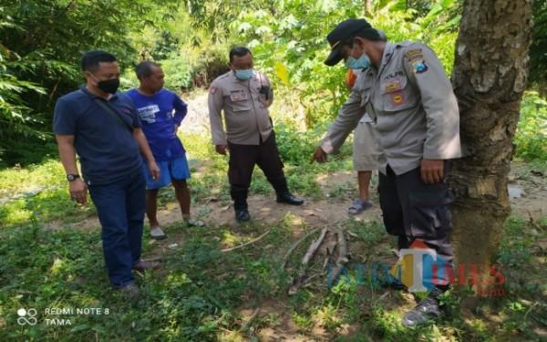 Lokasi ditemukannya mayat SDR / Foto : Dokpol / Tulungagung TIMES