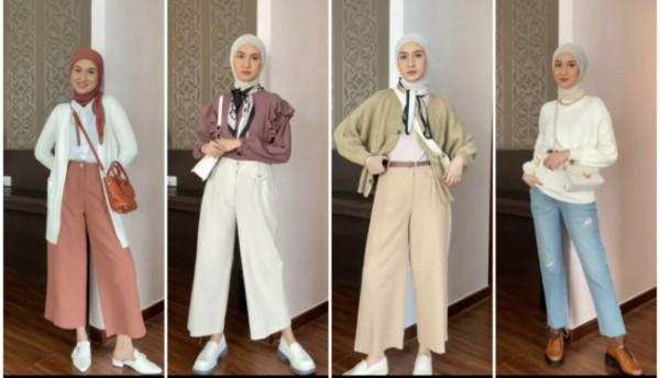 Outfit simpel buat ngabuburit ala hijabers. (Foto: Instagram @inasrana).