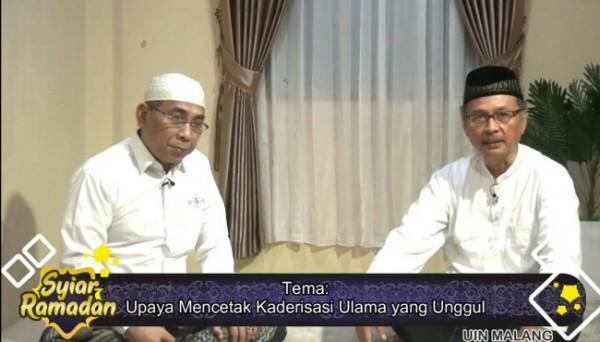 Pengasuh Ponpes Raudlatut Thalibin, KH Yahya Cholil Staqufdan dan Rektor UIN Malang, Prof Abdul Haris (Ist)