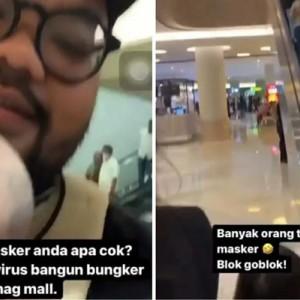 Viral Video Pria Berewok di Mal Surabaya Anggap Orang Bermasker Goblok, Polisi Gerak Cepat