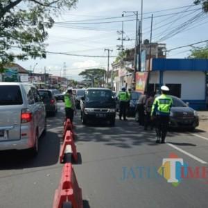 Akses Masuk Kota Batu Mulai Diperketat Polisi