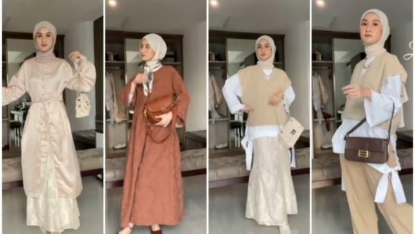 Inspirasi outfit untuk hari Lebaran ala hijabers. (Foto: Instagram @inasrana).