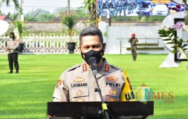 Kapolres Blitar Kota, AKBP Leonard M Sinambela.(Foto : Aunur Rofiq/BlitarTIMES)