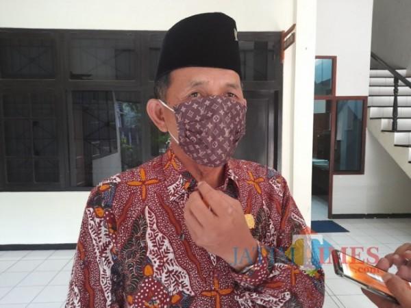 Ketua DPRD Tulungagung Marsono, foto diambil usai rapat dengan TAPD di Gedung DPRD Tulungagung. Sabtu (24/04/2021). (Foto: Muhsin/TulungagungTIMES)