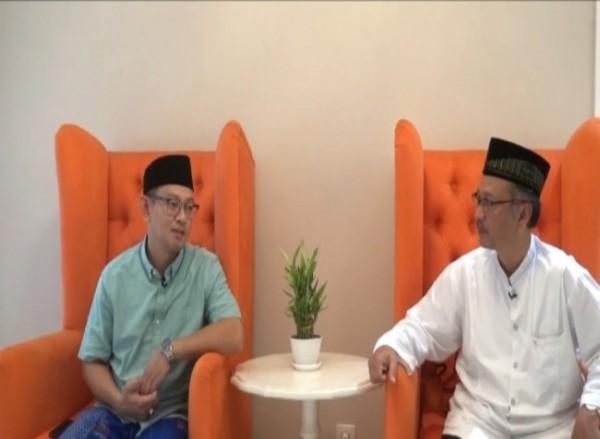Ketua GP Ansor Jawa Timur Gus Syafiq Syauqi dan Rektor UIN Malang Prof Abdul Haris (kanan).(Ist)