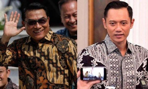 Moeldoko dan AHY (Foto: Tribunnews)