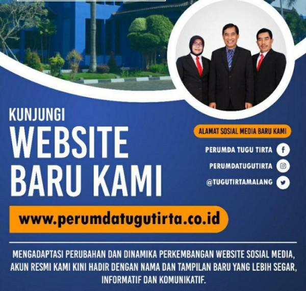 Perumda Air Minum Tugu Tirta Kota Malang luncurkan website dan sosmed baru (Foto istimewa)