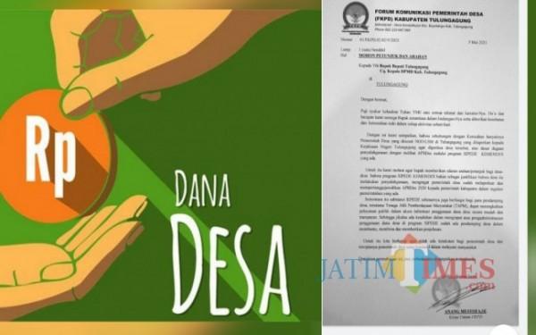 Surat FKPD ke Bupati Tulungagung / Foto : Istimewa / Tulungagung TIMES