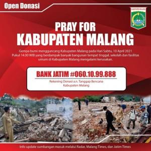 Donasi Tanggap Bencana Kabupaten Malang Terus Mengalir, Terkumpul Dana Rp 796,9 Juta