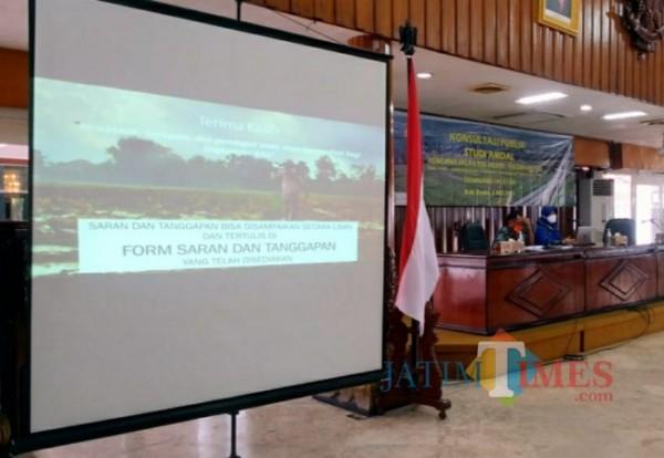 Konsultasi AMDAL proyek pembangunan jalan tol Kediri - Tulungagung. (Eko Arif S/ jatimtimes)