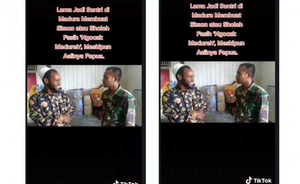 Pria asal Wamena fasih bahasa Madura (Foto: Screenshoot)