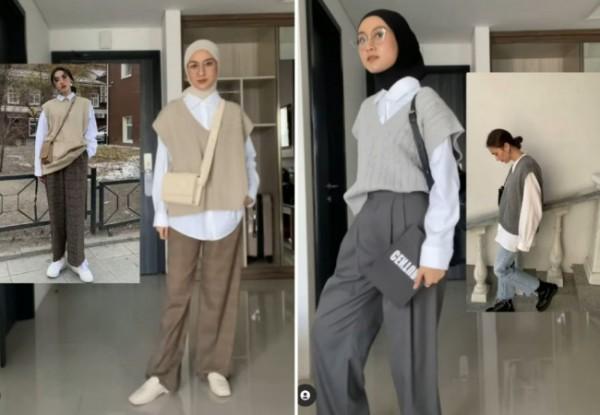 Academia outfit ala hijabers. (Foto: Instagram @inasrana).