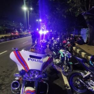 Razia Balap Liar, Polresta Malang Kota Amankan 16 Motor