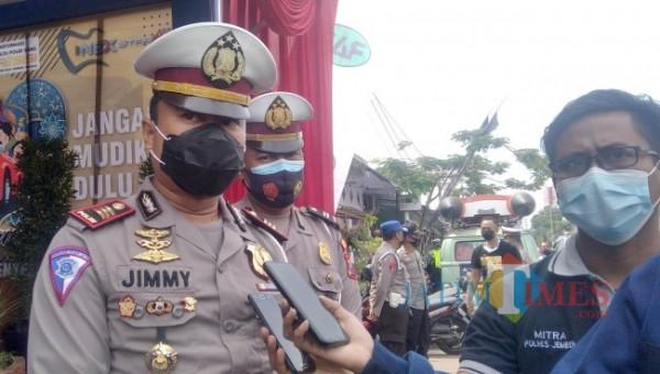 Kasatlantas Polres Jember AKP. Jimmy Heriyanto Manurung (foto : Moh. Ali Makrus / Jatim TIMES)
