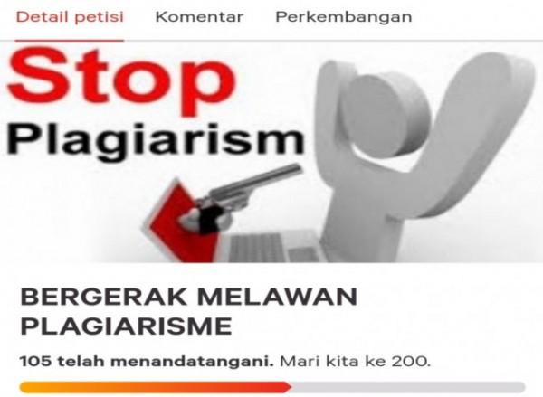 Petisi online yang menuntut adanya tindakan terhadap bakal calon rektor UIN Maliki Malang yang terindikasi plagiarisme (Ist)