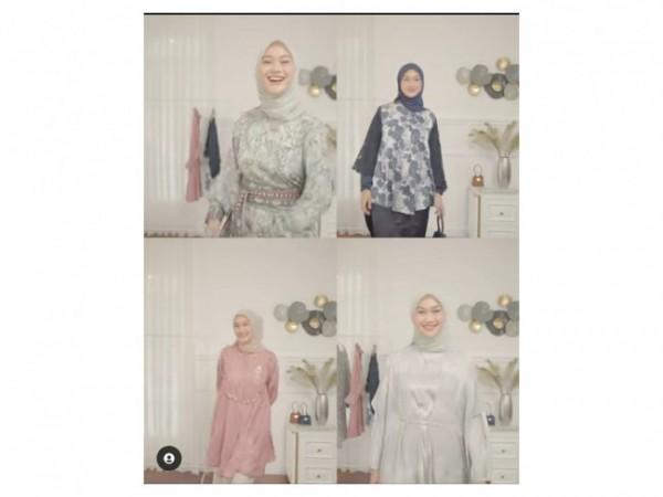 Inspirasi outfit untuk Hari Raya Idul Fitri ala hijabers. (Foto: Instagram @indahnadapuspita).