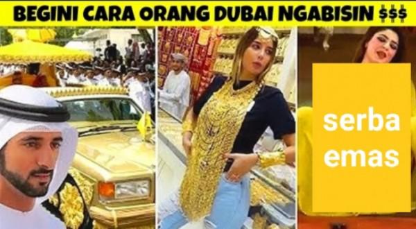 Ilustrasi orang terkaya di Dubai yang menghabiskan uang secara konyol. (Ist)