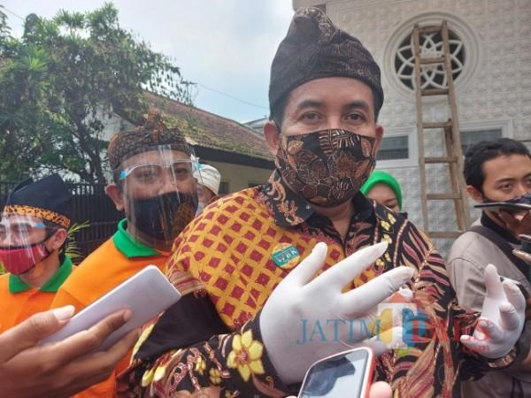 Kepala Kantor Kementerian Agama RI Cabang Kota Malang Muhtar Hazawawi saat ditemui MalangTIMES.com, Sabtu (8/5/2021). (Foto: Tubagus Achmad/MalangTIMES)
