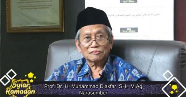 Narasumber dalam syiar Ramadan Prof Dr H Muhammad Jakfar SH MAg. (Ist)