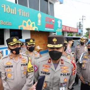 Dirregident Korlantas Polri Brigjen Pol Yusuf Tinjau Simpang Tiga Mengkreng