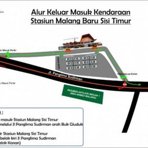Jalur Keluar Masuk Kendaraan di Stasiun Malang Ada di Sisi Timur, Calon Penumpang Perhatikan ini!