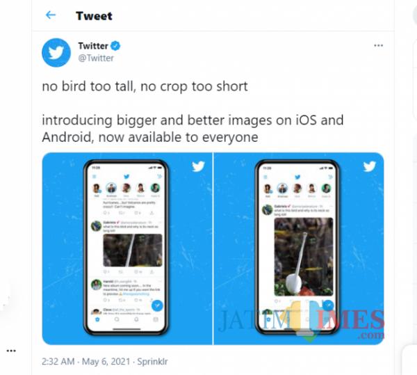 Update terbaru Twitter (Tangkapan Layar Twitter)
