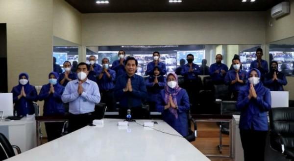 Perumda Air Minum Tugu Tirta Kota Malang menggelar Halal Bihalal Internal secara Virtual, Senin (17/5/2021) (Foto istimewa: Humas Perumda Air Minum Tugu Tirta Kota Malang)