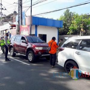Penyekatan, Polres Batu Halau 1.234 Kendaraan Masuk Kota Batu