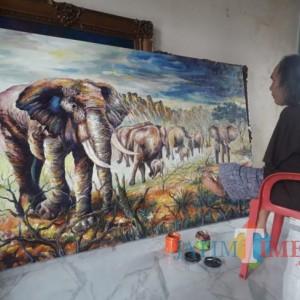 Pelukis Tunadaksa Sadikin Pard, Hasilkan 75 Karya Selama Pandemi