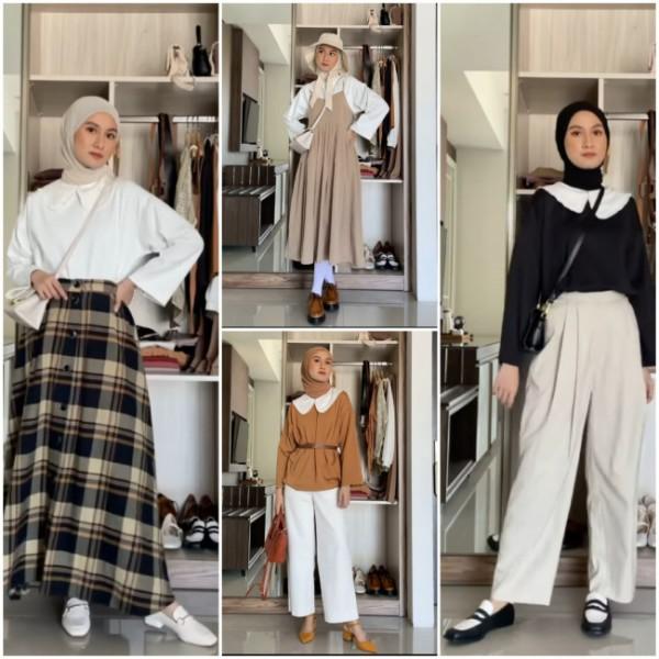 Effortless dengan basic outfit ala hijabers. (Foto: Instagram @inasrana).