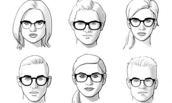 Ilustrasi bentuk-bentuk wajah (istimewa)