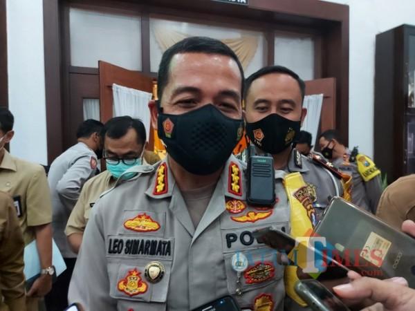 Kapolresta Malang Kota Kombes Pol Leonardus Simarmata saat ditemui awak media beberapa waktu lalu di Balai Kota Malang. (Foto: Tubagus Achmad/MalangTIMES)