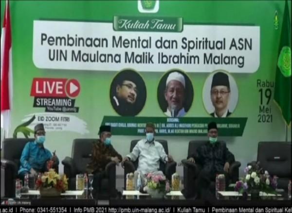 UIN Malang yang menggelar halal bihalal sekaligus pembinaan terhadap para ASN di lingkungan UIN Malang (Ist)