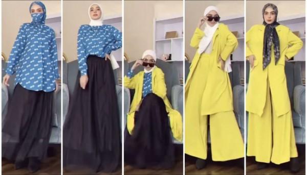 Model busana simple yang bisa digunakan dengan berbagai outfit lainnya agar tampil lebih modis. (Foto: Instagram @hamidahrachmayanti).