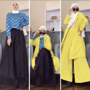 Hanya Mengandalkan 2 Jenis Busana Serasa Ganti Banyak Outfit? Intip Inspirasi Berikut Deh!