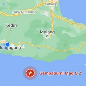 Gempa Magnitudo 6,2 Tenggara Blitar, Warga Tulungagung Berhamburan Keluar Rumah